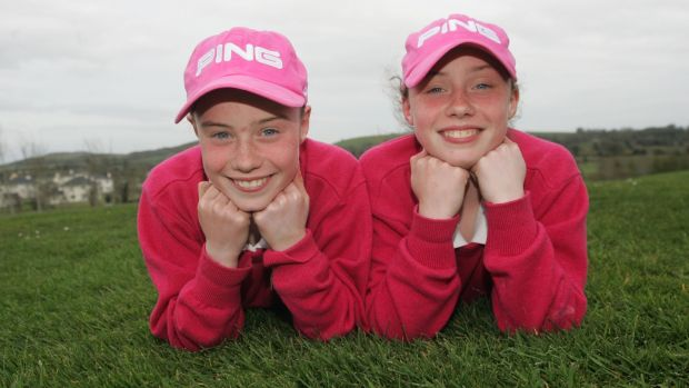 The Maguire twins at 11-years-old after they competed in the Final of the Munster Ladies Junior Championship. Photo: Brian Gavin/Press 22