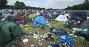 Waste opportunity: Avril Stanley wants festival organisers to work together to solve common environmental problems such as abandoned tents. Photograph: Dave Meehan