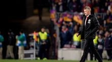 Manchester United's Ole Gunnar Solskjaer after the Champions League quarter-final defeat to Barcelona. Photo: Pau Barrena/Getty Images