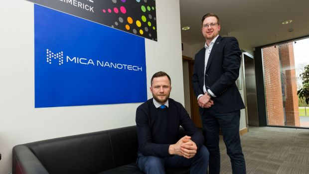Dr Michal Osiak and Dr Patrick Cronin - co-founders of Mica NanoTech. Photograph: Oisin McHugh True Media