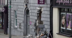 Scene of a double ATM robbery on Main Street, Kells, Co. Meath which occured in the early hours of this morning. Photograph: Colin Keegan/Collins