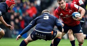 Munster's Niall Scannell takes on Edinburgh's WP Nel during the Heineken Champions Cup quarter final at Murrayfield. Photograph: Dan Sheridan/Inpho