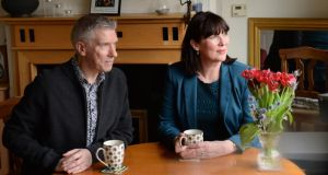 Renters: Janette Byrne and Nigel Clark at the home they're due to leave in June. Photograph: Dara Mac Dónaill