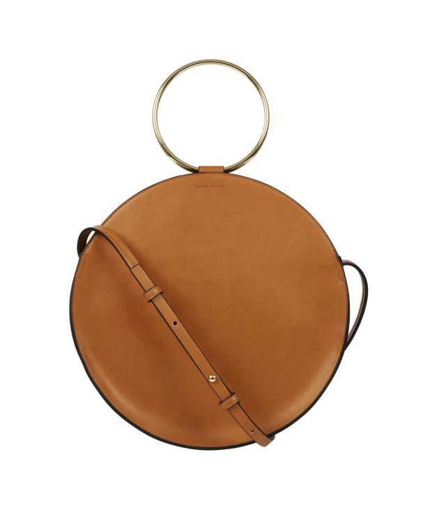 Brown leather circle bag Marks & Spencer. €54