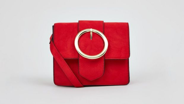 Red Circle Buckle Cross Body Bag New Look. €19.99