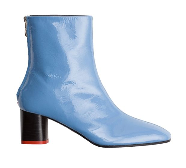 Aeyde Florence blue patent boot. €276 modaoperandi.com