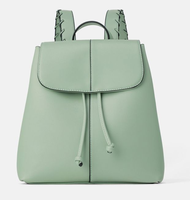 Green backpack Zara. €25.95