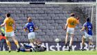 Kevin Brady scores a goal for Antrim against Wicklow during the  2008 Tommy Murphy Cup final at Croke Park. Photograph: Lorraine O'Sullivan/Inpho
