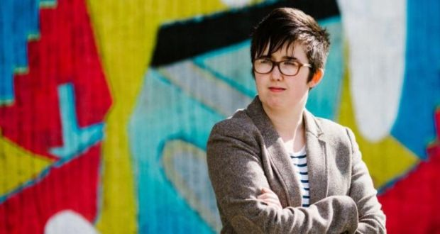 Lyra McKee was shot dead riots in the Creggan area of Derry, in what police are treating as a terrorist incident. Photograph: Jess LOWE/AFP/Getty images