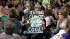 Climate protesters stage O'Connell Street sit-down