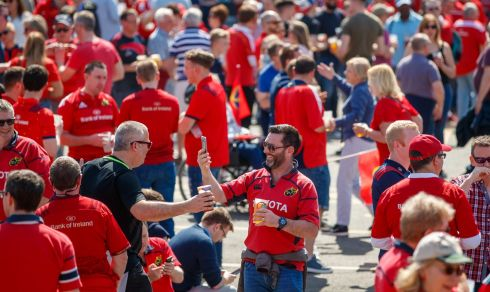Munster fans before the game. Photo: James Crombie/Inpho