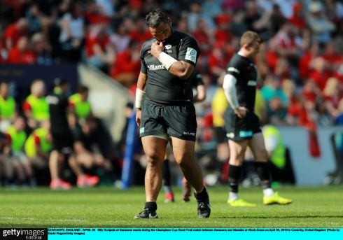 Billy Vunipola of Saracens during the match. Photo: David Rogers/Getty Images