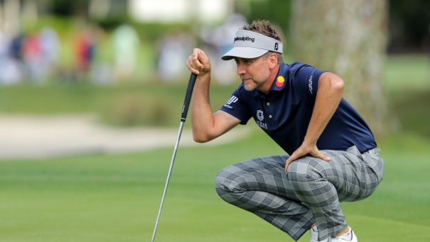 Ian Poulter shares second place with Shane Lowry heading into the final round at Hilton Head. Photograph: Tyler Lecka/Getty