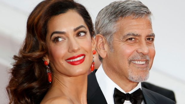 US actor George Clooney and wife, his human rights lawyer Amal Clooney enjoyed a short break for Easter in Co Laois with their family. File photograph: EPA