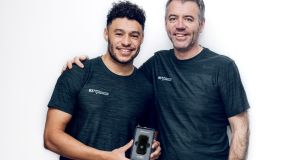 Liverpool star Alex Oxlade-Chamberlain and Statsports chief global strategist Jarlath Quinn