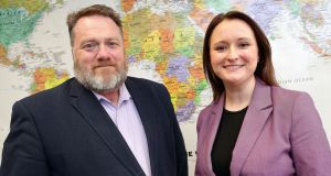 Pictured announcing Expleo's digital transformation project with Concern Worldwide are Richard Dixon, director of public affairs at Concern Worldwide, and and Melanie Byrne, director of business analysis at Expleo Ireland