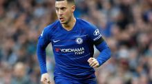 Eden Hazard: Real Madrid expect to complete the signing of the Chelsea star during the summer. Photograph: Martin Rickett/PA