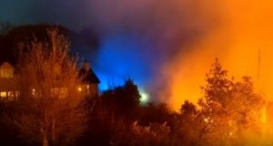 It took 55 firefighters to bring the blaze under control at Tollymore Forest in Co Down  said fire service group commander Dermot McPolland on Monday.
