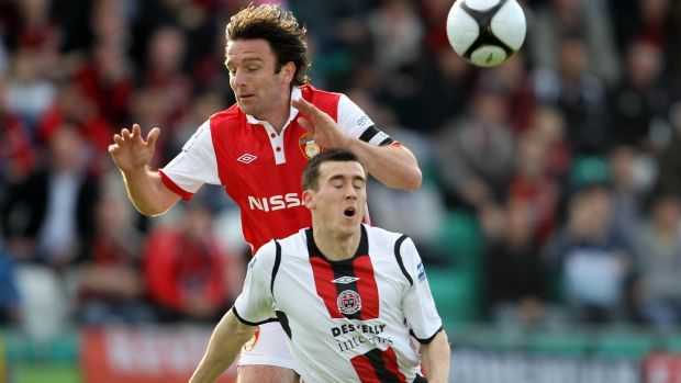 Aaron Greene playing for Bohemians in 2010. Photograph: Donall Farmer/Inpho