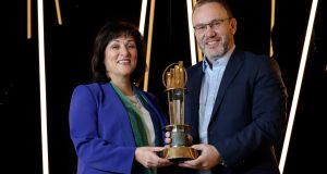 Pictured at the announcement of this year's finalists are Kevin McLoughlin, EY partner lead for the awards programme, and Anne Heraty, chief executive of Cpl Resources and chair of the judging panel
