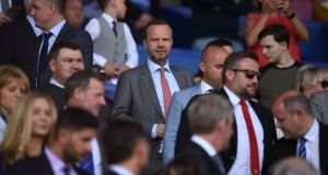 Manchester United's executive vice-chairman Ed Woodward pictured during the club's 4-0 defeat at Everton. Photograph: Oli Scarff/AFP/Getty