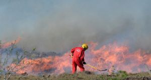 Gorse fires   in the Loughanure area  of Co Donegal. Photograph: Colm Lenaghan/Pacemaker Press