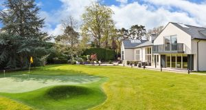 Rear garden includes a par three golf hole at Tanglewood, Falls Road, Rathmichael, Co Dublin