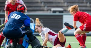 Loreto's Nicci Daly in action against Ritm Grodno. Photograph: Koen Suyk/World Sport