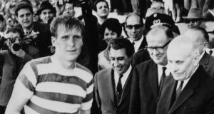 The late Billy McNeill lifts the European Cup in 1967. Photograph: Getty Images