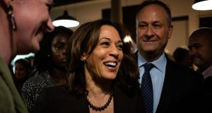 Sen Kamala Harris (Democrat-California): 'I believe Congress should take the steps toward impeachment.' Photograph: Elizabeth Frantz/New York Times