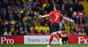 Shane Long has scored the fastest goal in Premier League history for Southampton against Watford. Photograph: Glyn Kirk/AFP/Getty