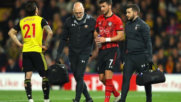 Shane Long was replaced late on in Southampton's draw with Watford. Photograph: Warren Little/Getty