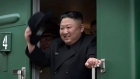 Nort Korea's Kim gets warm welcome at Russian border