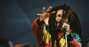 Bob Marley performs on stage  on June 7th, 1980 in London, United Kingdom. Photograph: Peter Still/Redferns