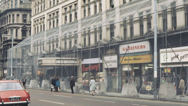 4f5a5e8ead A wire security cage surrounds shops and businesses in the centre of Belfast  in 1972 to