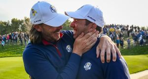 Tommy Fleetwood and Sergio Garcia will partner each other in the Zurich Classic. Photograph: Oisin Keniry/Inpho