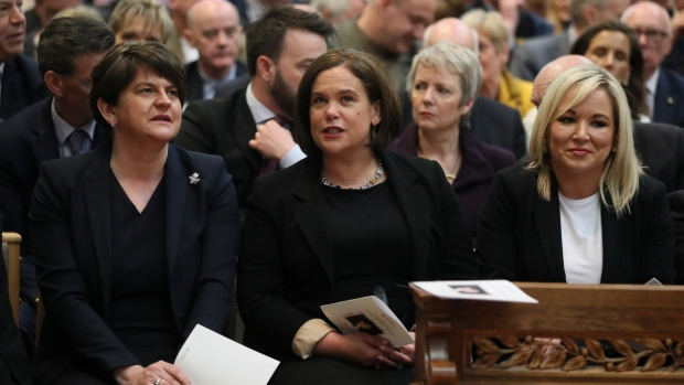 Huge turnout for Lyra McKee funeral in Belfast