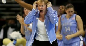 Coach Sylvia Hatchell: according to several witnesses she  regularly put the health of individual players at risk, forcing them to play and to train when battling torn labrums, torn knee tendons and even a broken hand.  Photograph:  Jim McIsaac/Getty Images