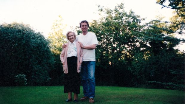 Patrick FitzSymons with his mother Patricia in the mid-1990s