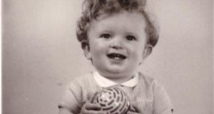 Patrick FitzSymons as a one-year-old baby