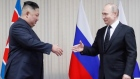 Kim Jong-un and Vladimir Putin meet for first time