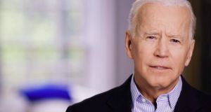 Former US vice-president Joe Biden in a still from the video announcing his candidacy for 2020. He leads Bernie Sanders, his nearest rival for the Democratic nomination, with support from 27 per cent of voters compared with 20 per cent for the Vermont senator. Photograph: Reuters