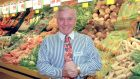 Feargal Quinn pictured in a Superquinn store in Sutton, Dublin, in 1997. Photograph: David Sleator / The Irish Times.