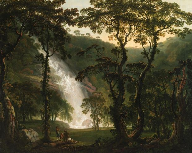 Shaping Ireland: View of Powerscourt Waterfall, circa 1760, by George Barret. Photograph: National Gallery of Ireland