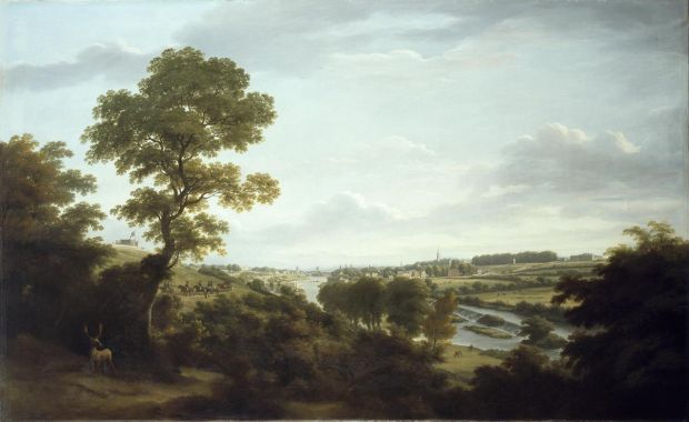 Shaping Ireland: A View of Dublin from Chapelizod, 1795-1798, by William Ashford. Photograph: National Gallery of Ireland
