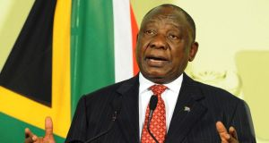 South African president Cyril Ramaphohas been advised to dismissed both lawyers based on the findings of the report. Photograph: SIyabulela Duda/EPA/GCIS/Handout