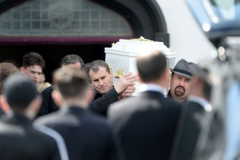 The Funeral of Bridget Ward (11) who died after colliding with a car in Ballinasloe. The funeral took place at  Ahascragh, Co Galway.  Photograph: Alan Betson/The Irish Times