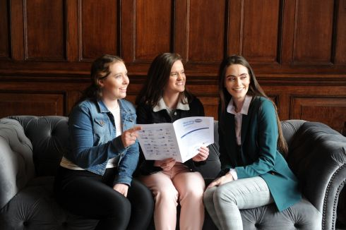 At the launch of Nursing Now in Dublin were student nurses Fiona Hanon, sarah Collins and Roisin O'Connell. Photograph: Aidan Crawley/The Irish Times