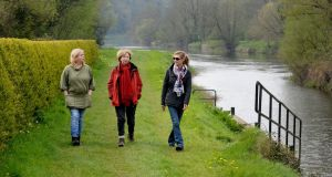 Save the Barrow line committee members Marie Kinsella, Olivia O'Leary and Anne Butler: An Bord Pleanála has rejected a Waterways Ireland plan for a hard surface along the towpath. Photograph: Alan Betson