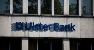 Ulster Bank's net loans to customers in the Republic increased by €100 million in the first quarter of 2019, compared with the previous quarter. Photograph: Tom Honan